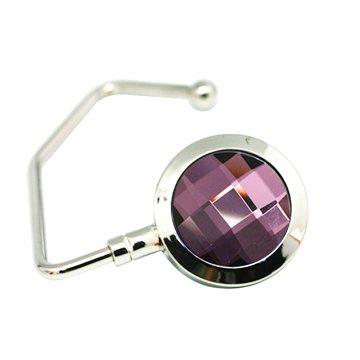 Perfect Purple Crystal Handbag Hook