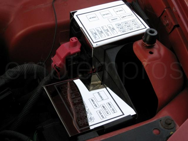 Fusecovers emblempros com gm licensed and custom vehicle emblems fuse box 2002 cabrio volkswagen at soozxer.org
