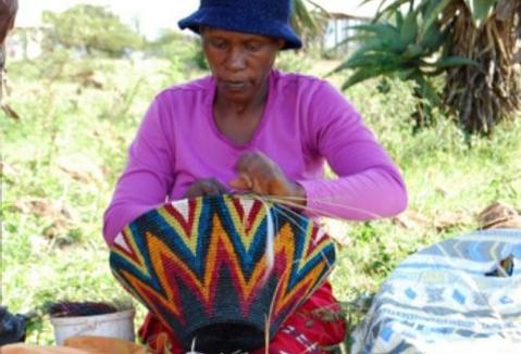 Hand made gifts . African  baskets