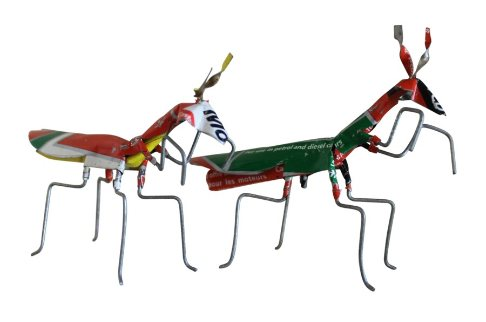 recycled metal insects