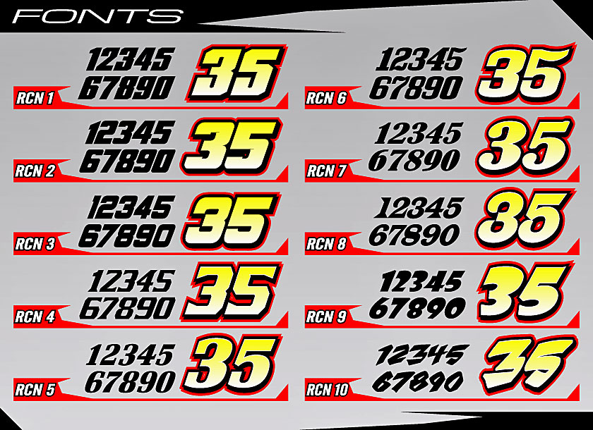 Cage Graphix - Race Car Graphics - Race Car Numbers - Cage