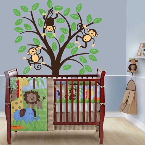 one hip sticker chic monkey tree wall decal