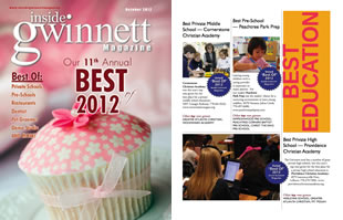 Best of Gwinnett Award for Best Private Middle School 2012