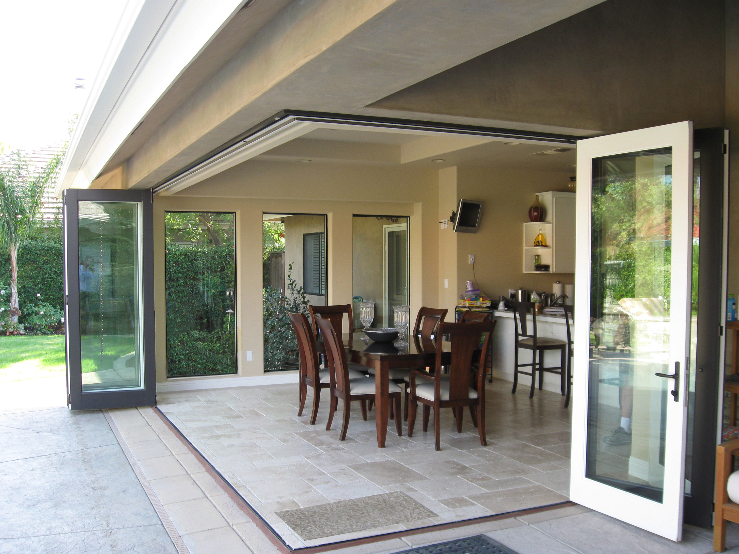 Ag millworks bi fold patio doors for Cheap sliding glass doors