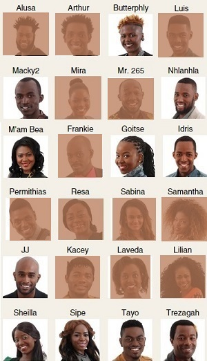 Remaining housemates in the Big Brother House