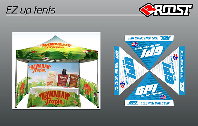 Our 10u0027x10u0027 fully sublimated tents are a perfect addition to your dealership offering an extension of your brand while at the track or for Open House.  sc 1 st  Roost MX & Roost MX - Motocross Graphics - EZ Up Tent
