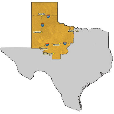 Map Of The Panhandle Of Texas