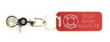 Custom Fire Department Key Rings