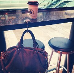handbag hook at Pret Westfield Shopping Centre