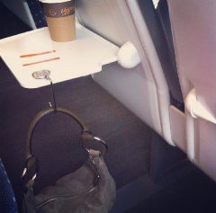 Handbag Hook in the train