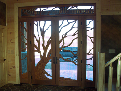 Custom Doors   Tree Carving