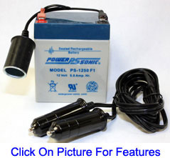 12v Battery Zodi 1091 Camping Shower Features