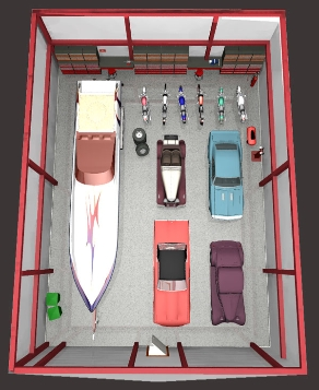 Own your own storage what size do you need for How wide is a 3 car garage
