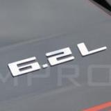 "Color CAMARO /""6.2L/"" Emblem Badge Mirror Stainless Steel"