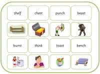 Matching words and pictures game