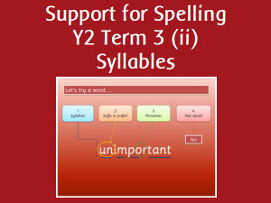 Support for Spelling y2 term 3