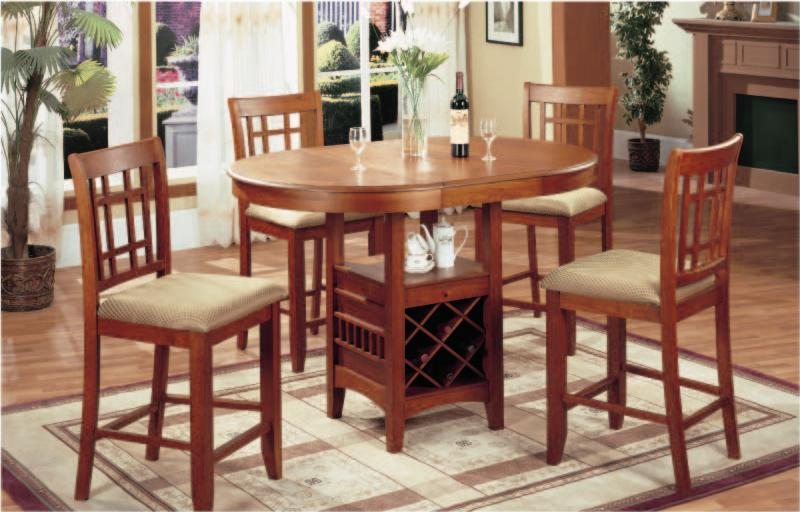 Wine storage table Contemporary Newmans Furniture Newmans Furniture Pc Pub Table With Wine Rack