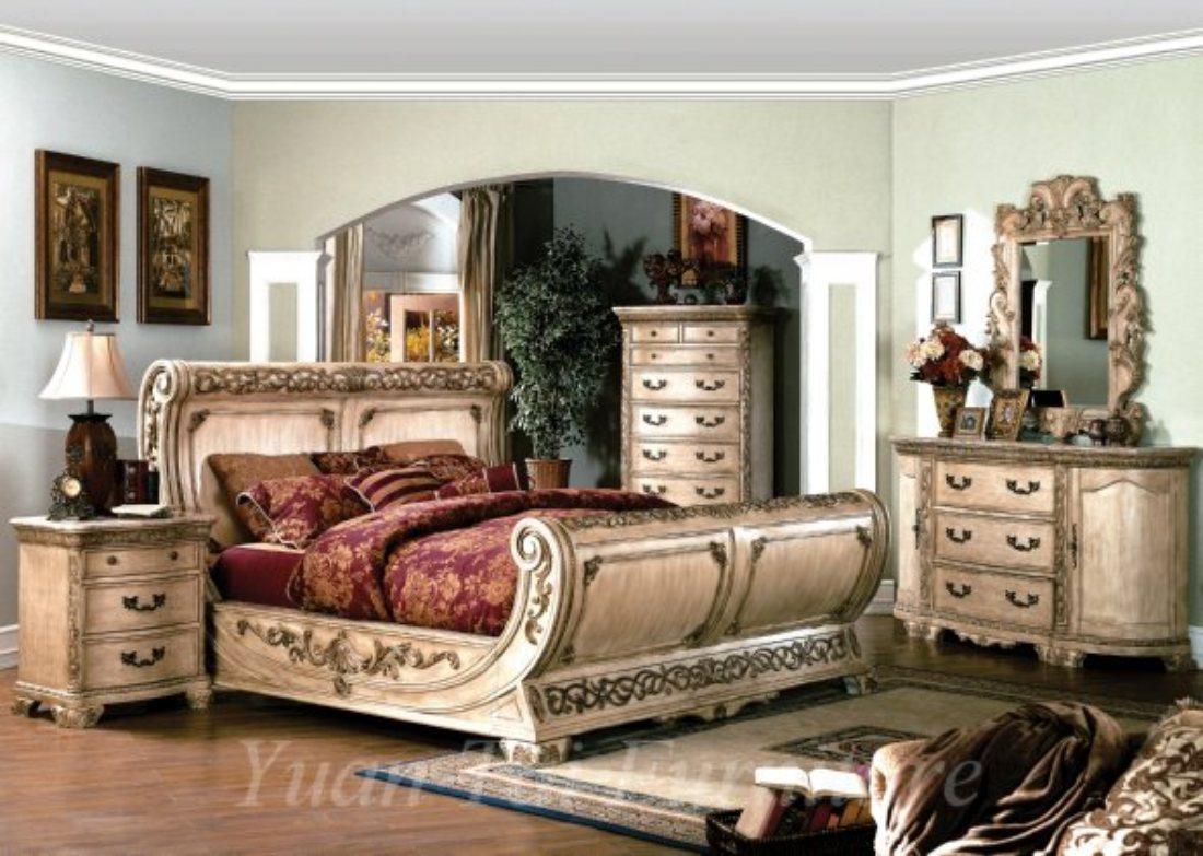 Cannes Whitewash Bedroom Set