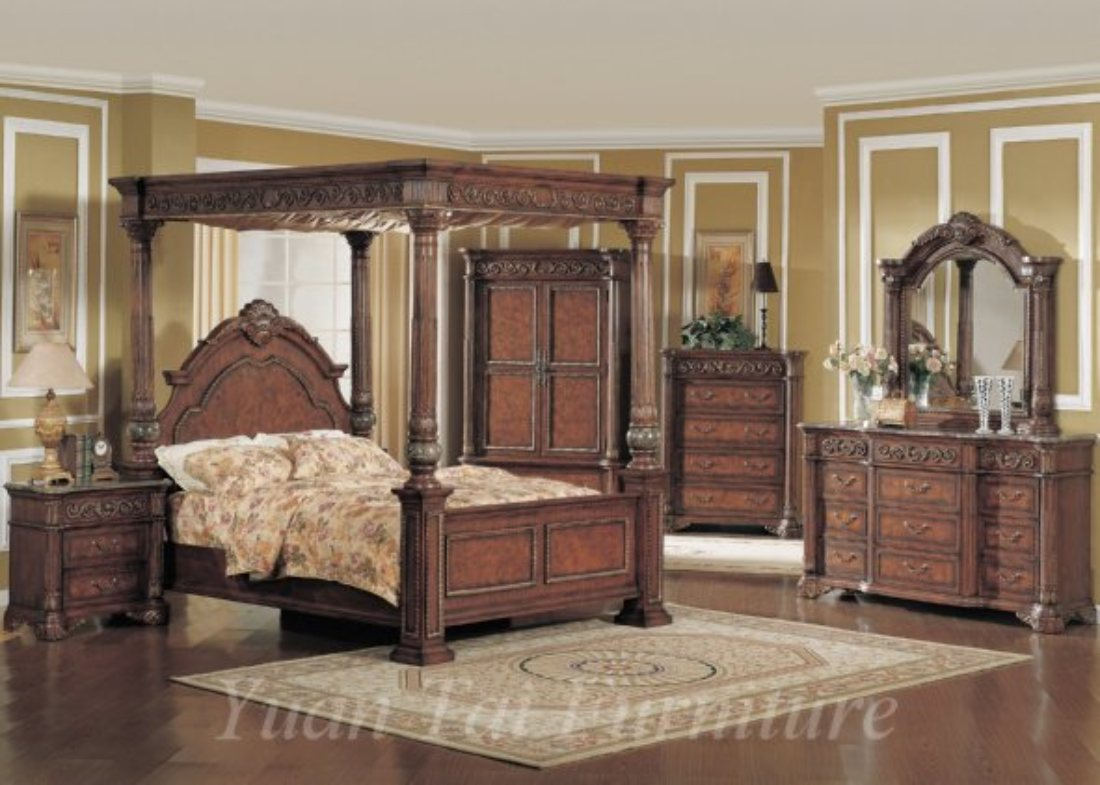 Newman S Furniture Kamella 4pc Queen Canopy Bedroom Set