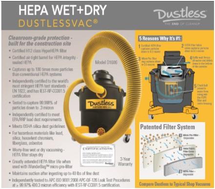Dustless HEPA Vac