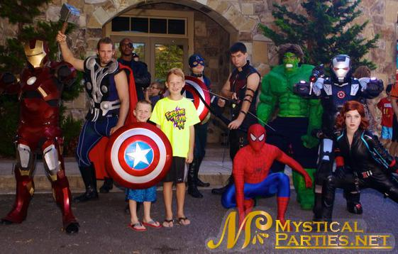 Avengers Theme Party Characters