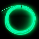 Raw 2.6mm EL Wire, Green ( Polar Bright 3 )