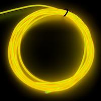 Raw 2.6mm EL Wire, White ( Polar Bright 3 )