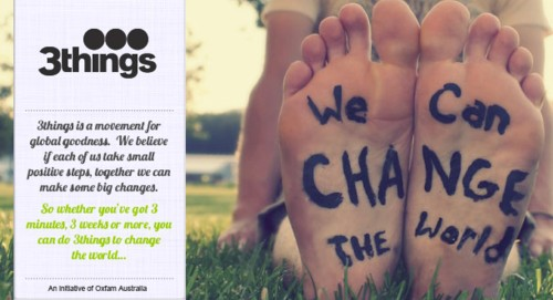 we can change the world. 3things