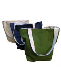 Shopping bags made from recycled sails