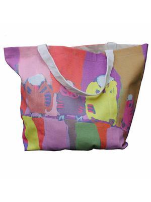 Budgerigar decorated bag