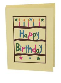Eco-friendly fair-trade childrens birthday cards