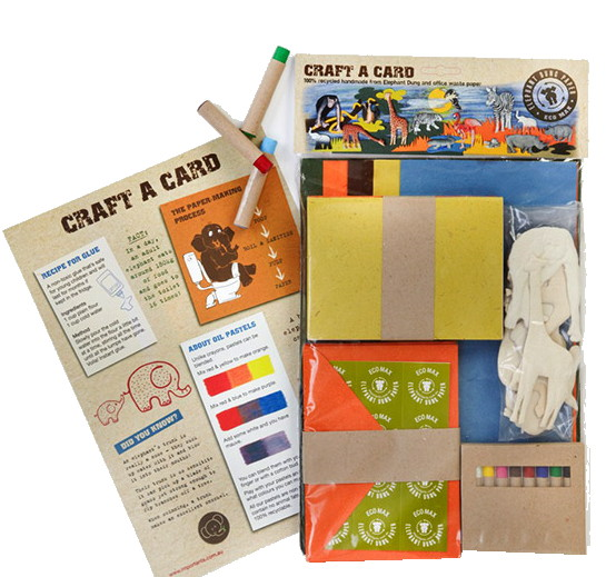 Childrens ecofriendly card making kit