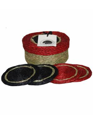 Natural woven drink coasters