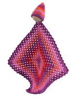 Comfort blanket for babies, hand crochet babies blankets
