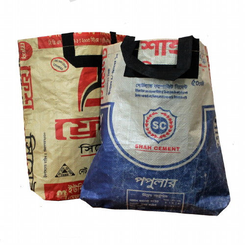 Bags recycled cement