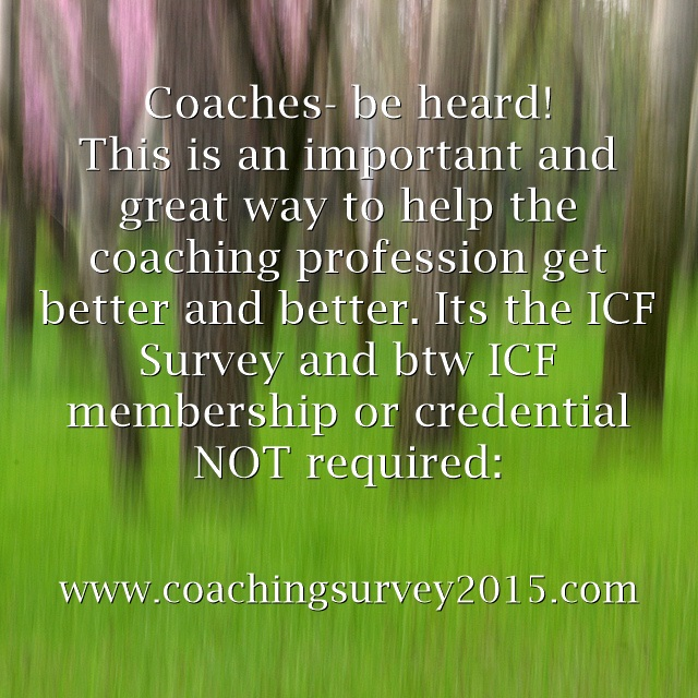 ICF 2015 Coach Survey no membership or credential required