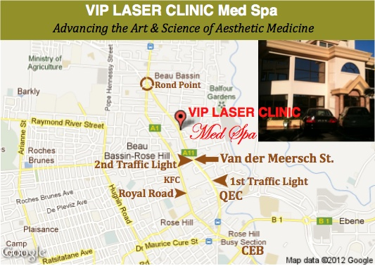 Location of the VIP LASER CLINIC MED SPA