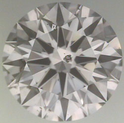 diamond clarity:  black crystal with center placement