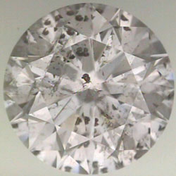 diamond clarity: lots of reflecting diamond crystal inclusions