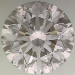 diamond clarity:  feather inclusions blend in well