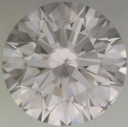 diamond clarity:  grey crystal inclusion with center placement