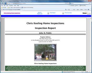 Chris Keeling, Home Inspection Report Atlanta GA