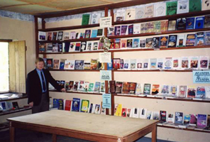 Dr. Hammond in a field library for pastors