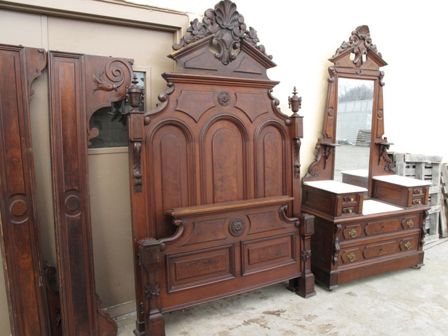 antique bedroom sets mitchell amp rammelsberg 2 walnut bed set 10081