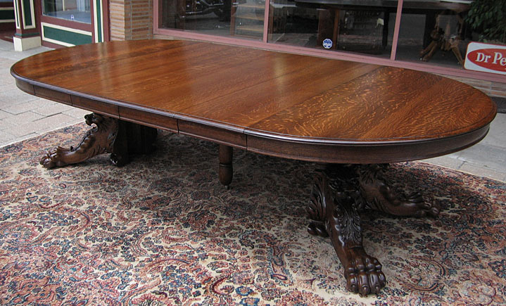 Fo2 27 8a Oak Lion Table Jpg
