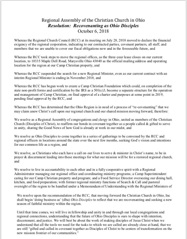 South Christian Church Reg Office Letter