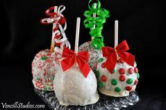 we will also be doing some egg nog caramel for this holiday season stop in and see us at java junction off exit 48 or email us shipping available - Christmas Candy Apples