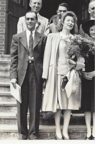 Wilbur Humphries with movie star Greer Garson at WWII Bond Drive