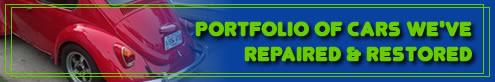 portfolio of air cooled vw's restored