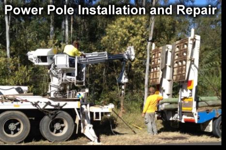 Power Pole Installation
